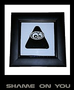 Emoticon Framed Prints - Shame On You Framed Print by Sirajudeen Kamal Batcha