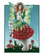 Faery Digital Art - Shamrock Fairy by KimiCookie Williams