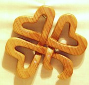 Woodcarving Sculpture Originals - Shamrock by Russell Ellingsworth