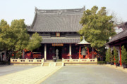Temples Art - Shanghai Confucius Temple - Wen Miao - Main Temple Building by Christine Till