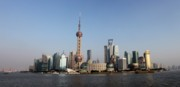 Shanghai Skyline Print by Thomas Marchessault