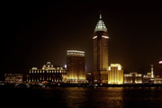 City Lights Prints - Shanghais Bund is back to its best Print by Christine Till