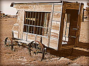 Paddy Wagon Framed Prints - Shaniko Paddy Wagon Framed Print by Cindy Wright