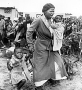 Black History Art - Shantytown In South Africa, 1981 by Everett