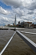 Struts Prints - Shard from Millennium Bridge Print by Gary Eason
