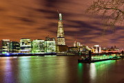 Standing Water Prints - Shard London Bridge Print by Sebastian Wasek