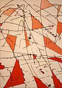 Shards - Windblown Print by Jess Fuller