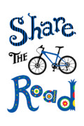 Share Posters - Share the Road Poster by Andi Bird