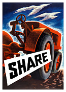 Farm Mixed Media Prints - Share Print by War Is Hell Store