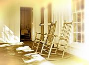 Rocking Chairs Metal Prints - Shared Moments Metal Print by Mal Bray