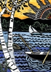 Row Boat Prints - Sharing the Lake Print by Jane Croteau