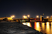 Shore Line Framed Prints - Shark River Inlet at Night Framed Print by Paul Ward