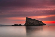 Twilight Framed Prints - Shark Rock Framed Print by Evgeni Dinev