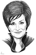 Famous People Drawings - Sharon Osbourne by Murphy Elliott