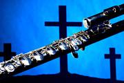 Sharp Flute Over Croses  Print by M K  Miller