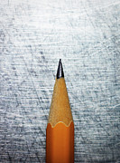 Stainless Steel Art - Sharpened Pencil On Stainless Steel. by Ballyscanlon