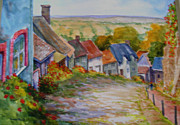 Streetscape Paintings - Shatsbury Village  by Richard Powell