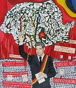 Romania Paintings - Shattered by a Dictator by Claudia French