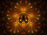 Fractal Geometry Digital Art - Shattered Five Leaf Clover Abstract by Zeana Romanovna