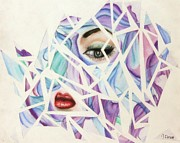 Fabric Pastels Prints - Shattered Print by Jessika Clement