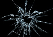 Pain Glass Art Posters - Shattered Poster by Shreekant Plappally