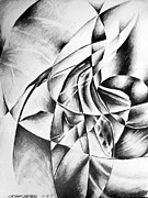 Abstract Drawing Drawings - Shattered Values  by Che Hondo