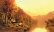 Fall Season Painting Posters - Shawanagunk Mountains Poster by Jervis McEntee