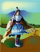 Western Theme Posters - Shawl Dancer 1 Poster by Kae Cheatham