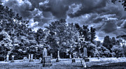 Haunted Cemetery Pastels - Shawnee Cemetery by Jackie Novak