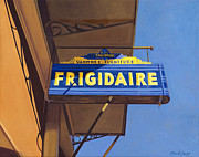 Americana Paintings - Shawnee Frigidaire by The Vintage Painter