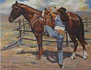 Afro-american Paintings - Shawtie-butt and Cowboy by Harvie Brown