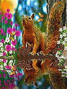 Smudgeart Framed Prints - Shaylene Squirrel Framed Print by Madeline  Allen - SmudgeArt