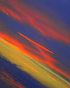 Amazing Sunset Mixed Media Prints - Shazaam Print by Robert Harmon