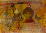 African-american Mixed Media Prints - She Believed She Could Print by Angela L Walker