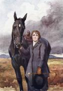Childrens Literature Prints - She Chose Me For Her Horse Print by Ken Welsh