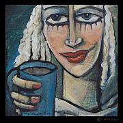 Cafe Paintings - She Had Some Dreams...  by Tim Nyberg