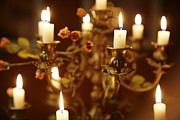 Romance Renaissance Photos - She Haunts Me - Candelabra by Hopelessly Romantic Media Productions Victoria  Napolitano