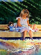 Young Girl Reading Paintings - She like to read by Maria Balcells