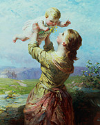 Playing Paintings - She Looks and Looks and Still with New Delight by James John Hill