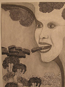 Wired Drawings - She Prefers Chocolate by Ron Weber