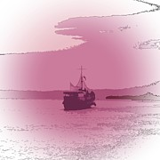 Trawler Metal Prints - She sails Metal Print by Sharon Lisa Clarke
