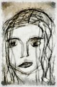 She Sat Alone 2 Print by Angelina Vick