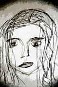 She Sat Alone Print by Angelina Vick
