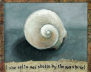 Seashell Mixed Media - She sells sea shells by Katherine DuBose Fuerst