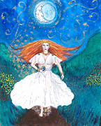 Goddess Posters Prints - She Walks in Beauty Print by Janice T Keller-Kimball