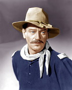 Neckerchief Prints - She Wore A Yellow Ribbon, John Wayne Print by Everett