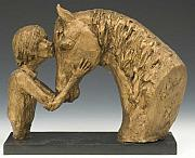 Horse Ceramics - Shea and Skipper by Audry Cramblit