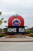 Ballparks Posters - Shea Stadium Home Run Apple Poster by Rob Hans