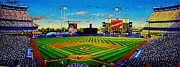 Baseball Painting Framed Prints - Shea Stadium Framed Print by T Kolendera