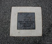 Base Balls Framed Prints - Shea Stadium Third Base Framed Print by Rob Hans